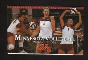 Minnesota Golden Gophers--2006 Volleyball Pocket Schedule--Star Tribune