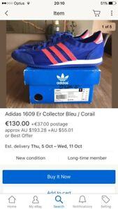 Adidas Originals Men's 1609er Trainer Shoe, Us 11 Eur 45.3, (G13134) Rare