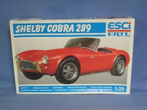 ESCI ERTL Shelby Cobra 289 Model Car Kit, 1/25 Scale, SEALED PARTS BAGS