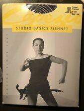 Womens Black Fishnet Dance Tights Capezio Studio Basics S/M NEW NIP