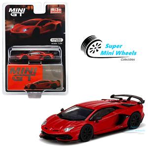 Mini GT 1:64 Lamborghini Aventador SVJ Rosso Mars (Red) #198