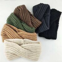 Women Winter Turban Knitted Bow Accessories Cross Knot Turban Headband Hair Band
