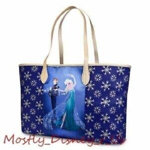 New Disney Store Fairytale Designer Elsa Hans Tote Bag Handbag Purse Good Evil