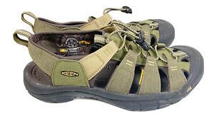 Men's Size 10.5 Newport Hydro Sandal - Dark Olive/Antique Bronze 1018941 EUC