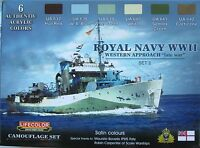 Lifecolor Acrylics LC-CS34 Royal Navy WW2  Paint set 2 'Western Approaches'
