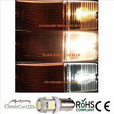 2x WARM WHITE MGA MGB Midget 5 SMD LED Luce Laterale Indicatore Lampadina BA9S glb233 glb989