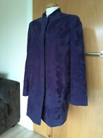 Ladies JACQUES VERT Coat Size 10 Purple Applique Smart Party Evening
