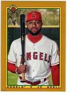 Jo Adell 2020 Bowman 1990 Bowman 5x7 Gold #90B-JA /10 Angels