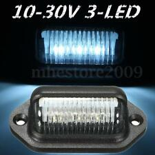 3 LED Number License Plate Tag Interior Boat Truck Trailer RV Step Light 12V 24V