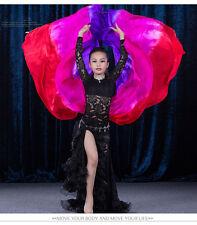 Hot Belly Dance Silk Veils Gradient Color for Kids 100% Real Silk Dance Veils