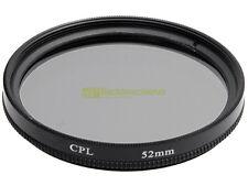 52mm. Filtro Polarizzatore circolare. Polarizing filter.