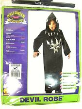 HALLOWEEN CONEPTS RUBIES COSTUME CHILDDS BLACK AND GREY DEVIL ROBE LARGE NEW