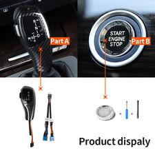 LED Illuminated Shift Knob Gear Selector Upgrade For BMW E90 E92 E93 Carbon Fibe