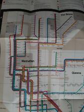 New York Subway Guide 1972 MOMA Design Massimo Vignelli Original Map NYC MTA