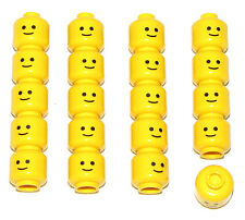 LEGO 20 NEW STANDARD GRIN MINIFIGURE HEADS SMILE TOWN CITY BOY GIRL BASIC