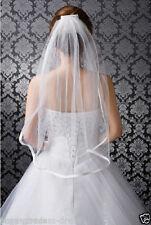 White 1T Elbow Satin Wedding Bridal Edge Veil With Comb Wedding Veil z2