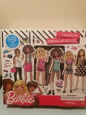 Paper Dolls Barbie Fashion Fun Dress Up Paper Doll Set of 4 New Uncut Sealed Box