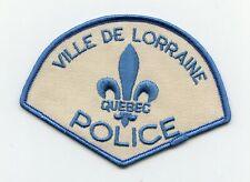 Ville de Lorraine Police, Quebec, Canada HTF Vintage Uniform/Shoulder Patch