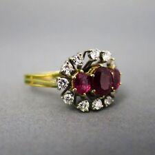 P1 Gute Echte Diamanten-Ringe aus Gelbgold mit Brilliantschliff