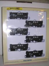 WALTHERS #932-975  6 - B.& O. USRA 55 Ton 2-Bay Hoppers w/6 diff. #s Blt-up 1/87