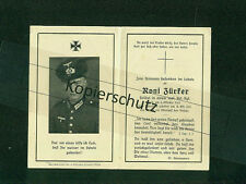 Sterbebild DEATH CARD 2. wk ww soldat mot. art. reg. zürker 1941 russie Dniepr