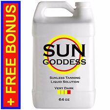 Sun Goddess - VERY DARK - 64 oz - Spray Tanning Liquid Solution / Spray Tan