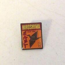 RARE AUTHENTIC 1990 HIROSHIMA EAST CONCERT TOUR CRANE LAPEL PIN