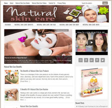 * NATURAL SKIN CARE * niche blog website business for sale w/ AUTO CONTENT!