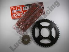 RK Red Chain & JT sprocket kit 17T front 42T rear for Yamaha YBR125 05 06