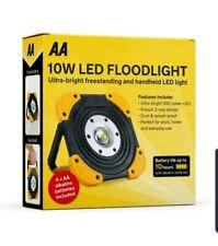 AA 10W LED FLOODLIGHT ULTRA BRIGHT FREESTANDING & HANDHELD WORK LIGHT 500 LUMEN
