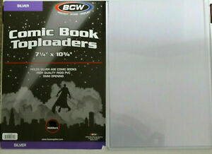 1 Loose BCW Silver Age Comic Book Topload Holder Toploaders New