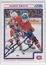 Autographed 12/13 Score Alexei Emelin - Canadiens