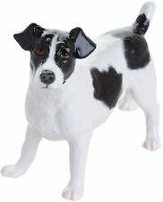 John Beswick Jack Russell dog figure black & white ceramic ornament JBD101