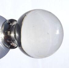 Cristal Transparente Liso De Cristal Redondo, las perillas de puerta Cromo Base (pares) Envío Gratis