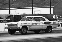 BILL JENKINS  CHEVY II AT POMONA    8X12  DRAG RACING PHOTO