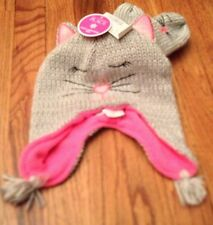 NWT Children's Place Girl's Shimmery Cat Hat & Mittens Set - Christmas 4-5T  L/G