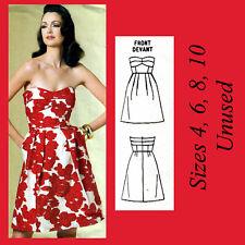 FF New Vogue 1174 Cynthia Steffe American Designer Strapless Pleated Dress