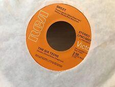 "7"" RARE VINYL - THE SWEET - THE SIX TEENS / BURN ON THE FLAME - RCA - 1974 USA"