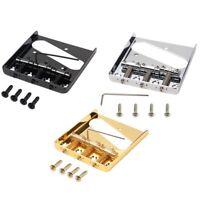3 Tl Saddle Ashtray Saddle Bridge with Screws for Fender Telecaster Tele U5Z6