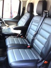 VW Transporter T4 Van Seat Covers Grey / Black PVC Leather MADE TO MEASURE A120C