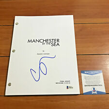 CASEY AFFLECK SIGNED MANCHESTER BY THE SEA FULL PAGE MOVIE SCRIPT BECKETT COA