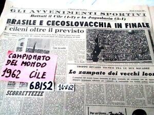 CALCIO CAMPIONATO DEL MONDO CILE 1962  CECOSLOVACCHIA BRASILE FINALISTE  (6BIS2)
