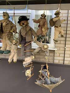 Antique Collection Of Clowns For Movie & Theatre Decor