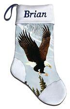 Eagle Wildlife Nature Christmas Holiday Personalized Stocking Mark Mansanarez