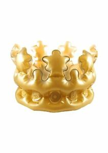 Adult Inflatable Gold King Queen Crown Novelty Stag Hen Party Dress Costume 33CM