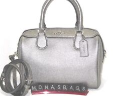 Coach F39706 Mini Bennett Satchel Crossbody Bag Metallic Gunmetal Handbag $295