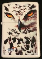 """Zippo by Mazzi """"""""Snowy Owl"""" Printed Lighter on White Matte , New"""