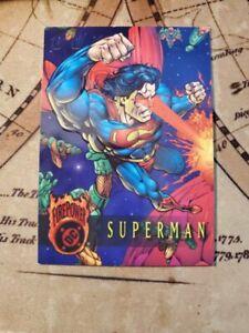 DC FIREPOWER: 1996 Superman Outburst PROMO - Skybox - Embossed