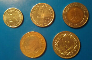 Lot of 5 Middle East coins
