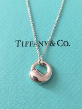 Tiffany & Co. Elsa Peretti Small Eternal Circle Pendant Necklace - 100% Genuine!